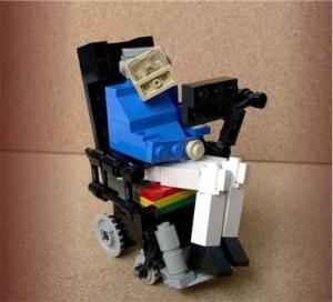 Professor Stephen Hawkings in Lego